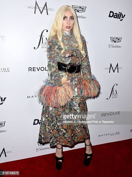 """Honoree Lady Gaga attends the Daily Front Row """"Fashion Los Angeles Awards"""" at Sunset Tower Hotel on March 20, 2016 in West Hollywood, California."""