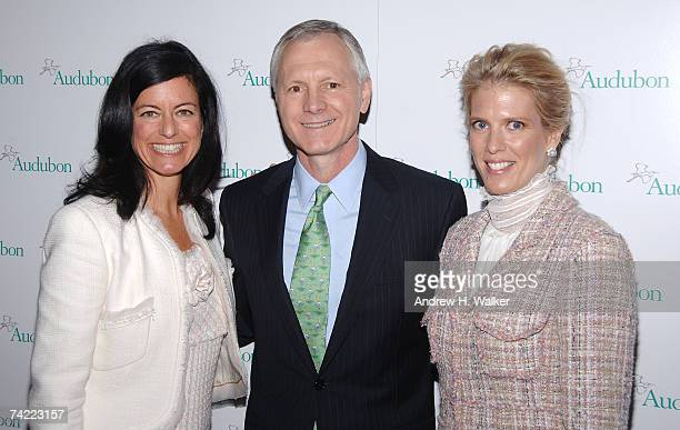 Honoree Laurie David CEO and president of the National Audubon Society John Flicker and honoree Deirdre Imus attend the National Audubon Society's...