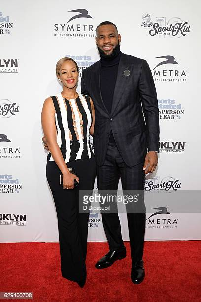 Honoree LeBron James and wife Savannah Brinson attend the 2016 Sports Illustrated Sportsperson of the Year at Barclays Center of Brooklyn on December...