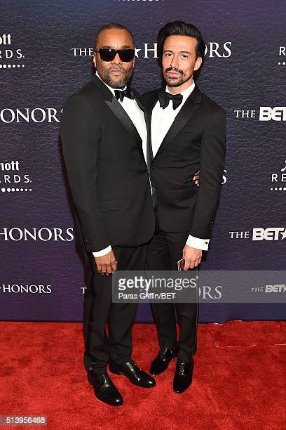 Honoree Lee Daniels and Jahil Fisher attend the BET Honors 2016 at Warner Theatre on March 5 2016 in Washington DC