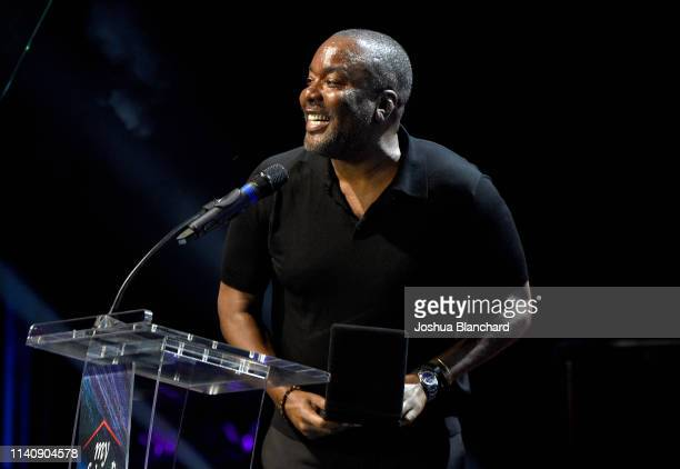 Honoree Lee Daniels speaks onstage at Ending Youth Homelessness: A Benefit for My Friend's Place at Hollywood Palladium on April 06, 2019 in Los...