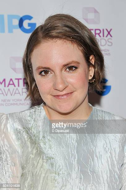Honoree Lena Dunham attends the 2016 Matrix Awards at The Waldorf=Astoria on April 25 2016 in New York City