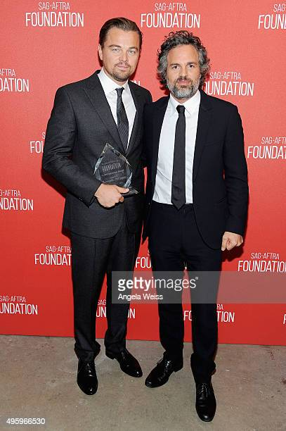 Honoree Leonardo DiCaprio and actor Mark Ruffalo attend the Screen Actors Guild Foundation 30th Anniversary Celebration at Wallis Annenberg Center...