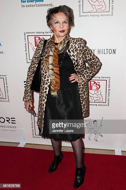 Honoree Leslie Caron arrives at the Professional Dancers Society's 27th Annual Gypsy Award Luncheon hosted at The Beverly Hilton Hotel on March 30...