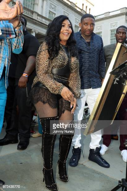 Honoree Lil Kim and Maino attend the 3rd Annual Influence Awards at City Hall on June 11 2018 in New York City