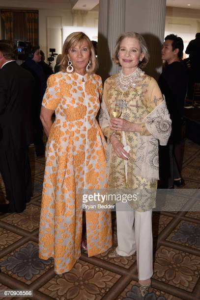 Honoree Linda Lloyd Lambert and Robin Bell attend the ASPCA hosted 20th Annual Bergh Ball at The Plaza Hotel on April 20 2017 in New York City