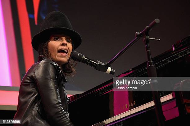Honoree Linda Perry performs onstage during the Family Equality Council Impact Awards on March 12 2016 in Beverly Hills California