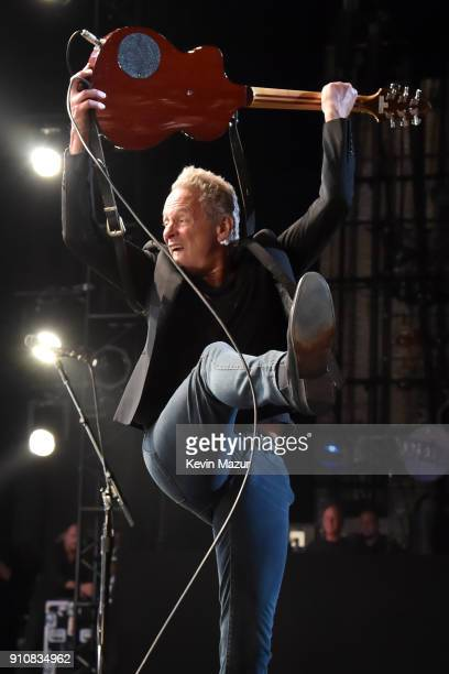 Honoree Lindsey Buckingham of Fleetwood Mac performs onstage during MusiCares Person of the Year honoring Fleetwood Mac at Radio City Music Hall on...