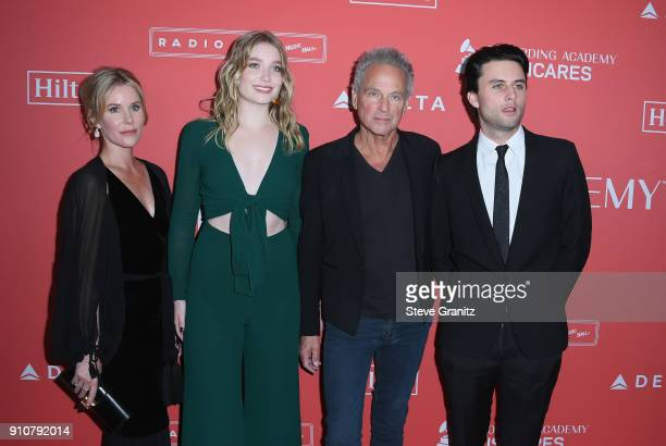 Honoree Lindsey Buckingham of Fleetwood Mac with Kristen Messner Stella Buckingham and William Gregory Buckingham attend MusiCares Person of the Year...