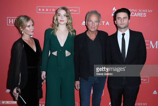 Honoree Lindsey Buckingham of Fleetwood Mac with Kristen Messner Stella Buckingham and William Gregory Buckingham arrives at the 60th Annual GRAMMY...