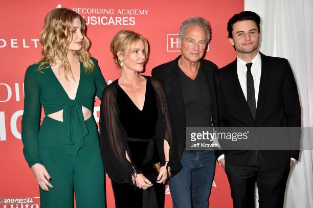 Honoree Lindsey Buckingham of Fleetwood Mac with Stella Buckingham Kristen Messner and William Gregory Buckingham attend MusiCares Person of the Year...