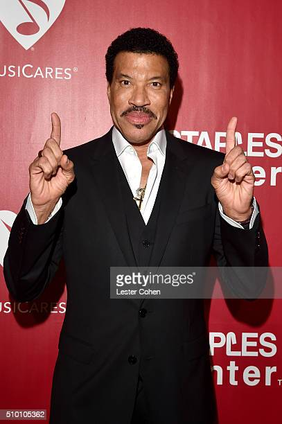 Honoree Lionel Richie attends the 2016 MusiCares Person of the Year honoring Lionel Richie at the Los Angeles Convention Center on February 13, 2016...