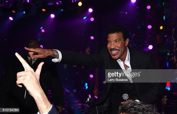 Honoree Lionel Richie attends the 2016 MusiCares Person of the Year honoring Lionel Richie at the Los Angeles Convention Center on February 13 2016...
