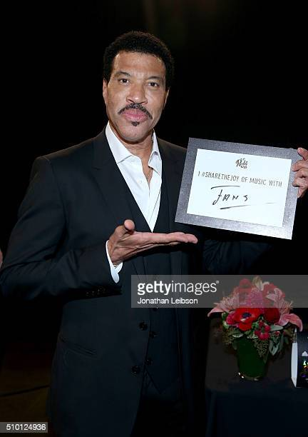 Honoree Lionel Richie attends the gifting suite during the 2016 MusiCares Person Of The Year honoring Lionel Richie at Los Angeles Convention Center...