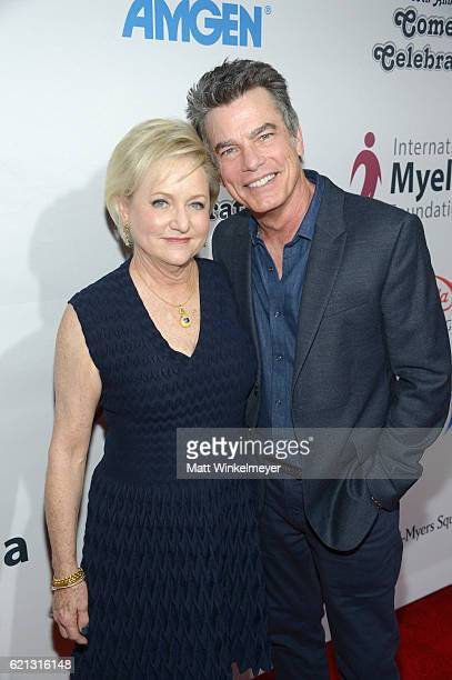 Honoree Loraine Alterman Boyle and Actor Peter Gallagher attend the International Myeloma Foundation 10th Annual Comedy Celebration at the Wilshire...
