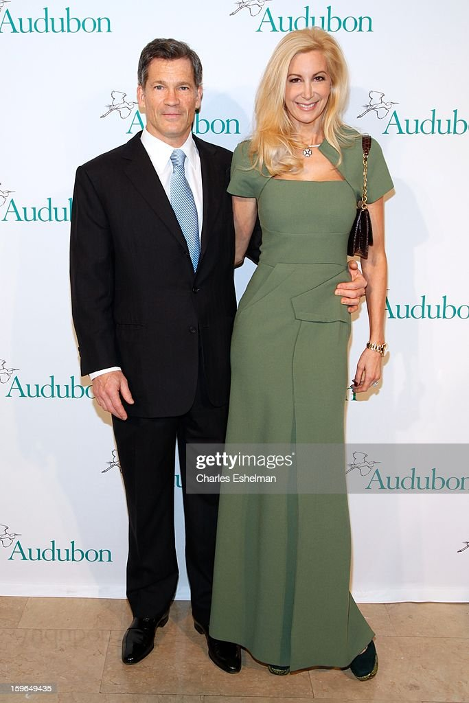 Honoree Louis Bacon and wife Gabrielle Bacon attend the 2013 National Audubon Society Gala Dinner on January 17, 2013 at The Plaza Hotel in New York, City.