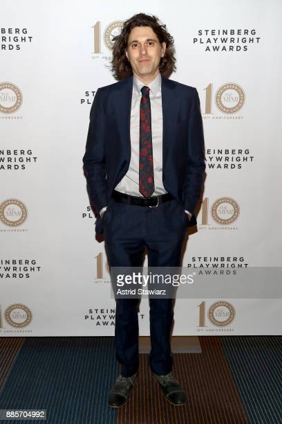 Honoree Lucas Hnath attends the 2017 Steinberg Playwright Awards honoring Ayad Akhtar and Lucas Hnath at Lincoln Center Theater on December 4 2017 in...
