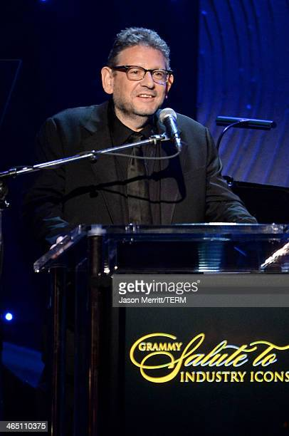 Honoree Lucian Grainge accepts The Recording Academy President's Merit Award onstage during the 56th annual GRAMMY Awards PreGRAMMY Gala and Salute...