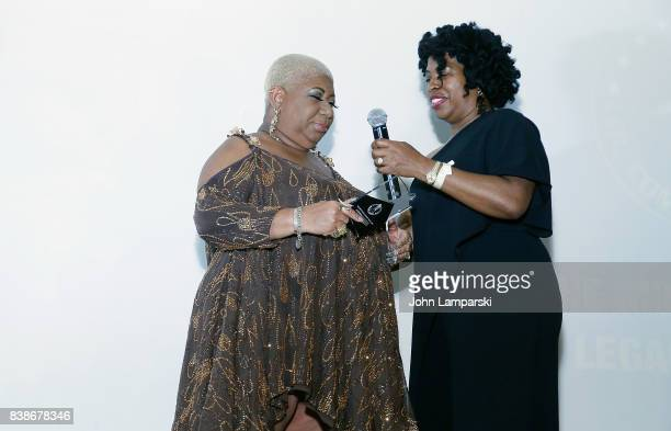 Honoree Luenell and Adele Givens attend during the 2017 LOL Comedy Honors Awards Show at Alhambra Ballroom on August 24 2017 in the of New York City