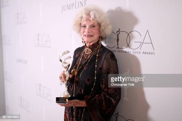 Honoree Maggie Schpak recipient of the Distinguished Service Award attends the Costume Designers Guild Awards at The Beverly Hilton Hotel on February...