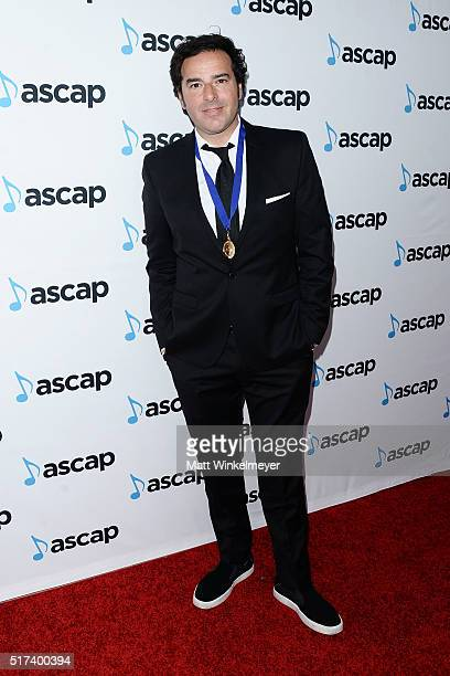 Honoree Marc 'Doc' Dauer arrives at the 2016 ASCAP Screen Music Awards at The Beverly Hilton Hotel on March 24 2016 in Beverly Hills California