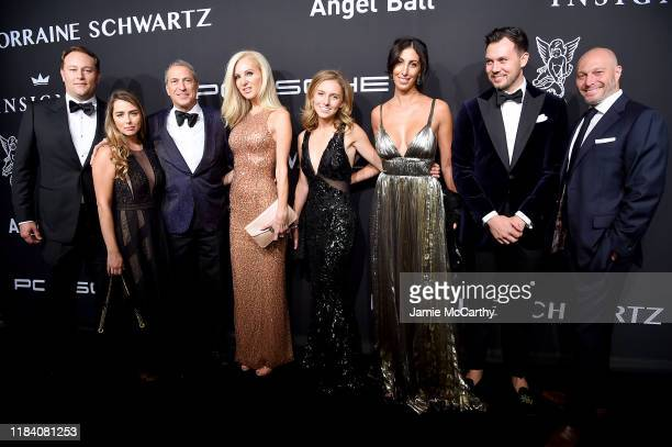 Honoree Marc J. Leder and family arrive at the Angel Ball 2019 hosted by Gabrielle's Angel Foundation at Cipriani Wall Street on October 28, 2019 in...