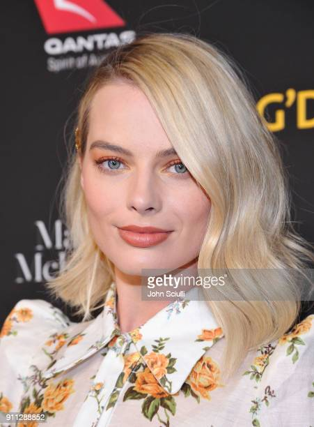 Honoree Margot Robbie attends the 2018 G'Day USA Black Tie Gala at InterContinental Los Angeles Downtown on January 27 2018 in Los Angeles California