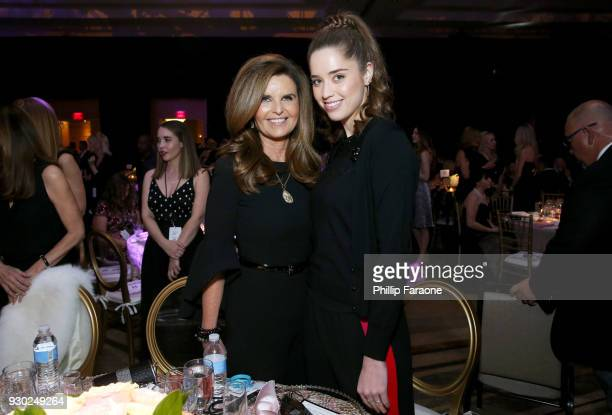 Honoree Maria Shriver and Christina Schwarzenegger attend Celebrity Fight Night XXIV on March 10 2018 in Phoenix Arizona