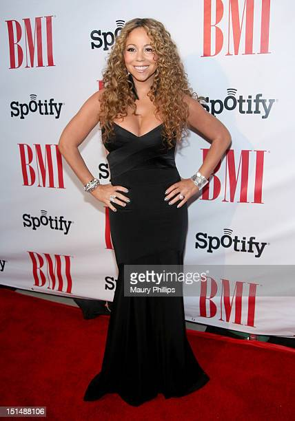 Honoree Mariah Carey arrives at the 2012 BMI Urban Awards honoring Mariah Carey at the Saban Theatre on September 7, 2012 in Beverly Hills,...
