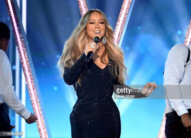 Honoree Mariah Carey performs onstage during the 2019 Billboard Music Awards at MGM Grand Garden Arena on May 01 2019 in Las Vegas Nevada