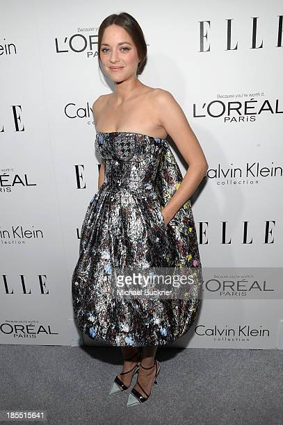 Honoree Marion Cotillard attends ELLE's 20th Annual Women In Hollywood Celebration at Four Seasons Hotel Los Angeles at Beverly Hills on October 21...
