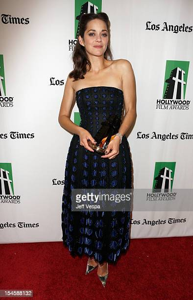 Honoree Marion Cotillard attends the 16th Annual Hollywood Film Awards Gala presented by The Los Angeles Times held at The Beverly Hilton Hotel on...