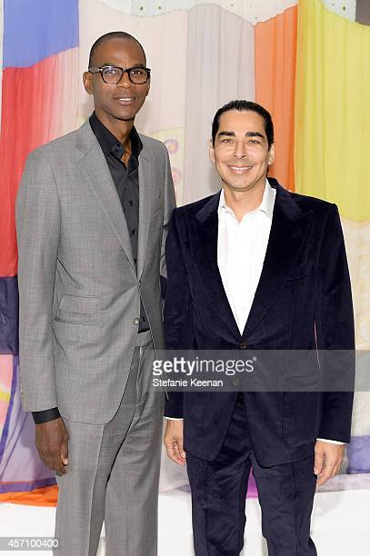 Honoree Mark Bradford and Mark Castro attend the Hammer Museum's 12th annual Gala in the Garden with generous support from Bottega Veneta at the...