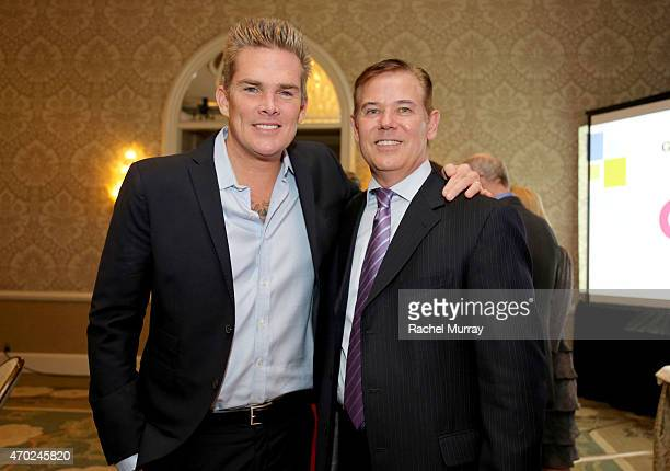 Honoree Mark McGrath and Don Hribek, Chairman of the Board of Directors of Path2Parenthood attend the Path2Parenthood - Illuminations LA 2015 held at...