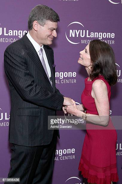 Honoree Mark Pochapin and Lori Fink attend NYU Langone 2016 Perlmutter Cancer Center Gala at The Plaza on October 19 2016 in New York City