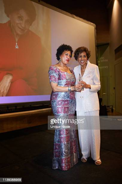 Honoree Marla Gibbs with daughter Angela Gibbs attends Women of Color Unite Gala at California African American Museum on March 28 2019 in Los...