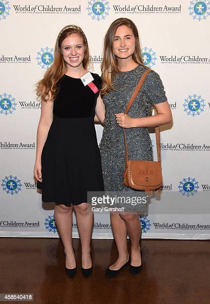 Honoree Mary Grace Henry and Lauren Bush Lauren attend the 2014 World Of Children Awards at 583 Park Avenue on November 6 2014 in New York City