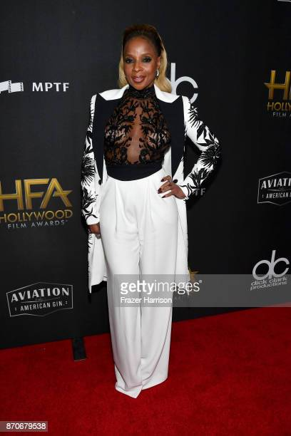 Honoree Mary J Blige attends the 21st Annual Hollywood Film Awards at The Beverly Hilton Hotel on November 5 2017 in Beverly Hills California