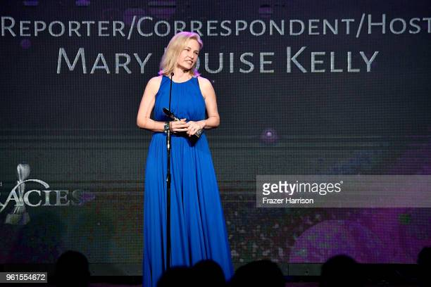 Honoree Mary Louise Kelly speaks onstage at the 43rd Annual Gracie Awards at the Beverly Wilshire Four Seasons Hotel on May 22 2018 in Beverly Hills...