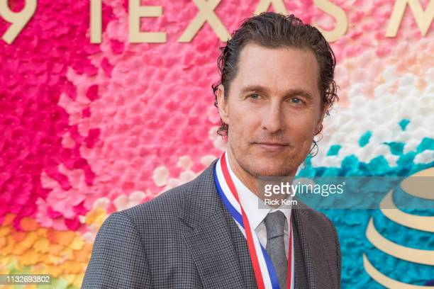 Honoree Matthew McConaughey attends the 2019 Texas Medal Of Arts Awards at the Long Center for the Performing Arts on February 27 2019 in Austin Texas