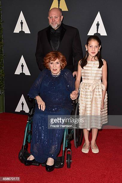 Honoree Maureen O'Hara attends the Academy Of Motion Picture Arts And Sciences' 2014 Governors Awards at The Ray Dolby Ballroom at Hollywood Highland...