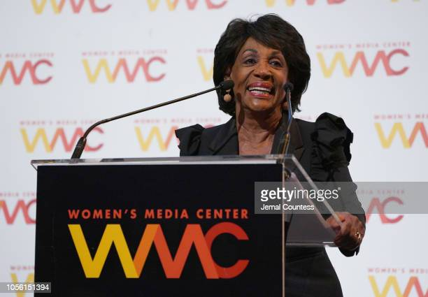 Honoree Maxine Waters speaks onstage during the 2018 Women's Media Awards at Capitale on November 1 2018 in New York City