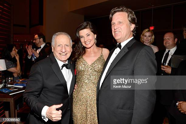 Honoree Mel Brooks actress Daphne Zuniga and David Mleczko attend the after party for AFI's 41st Life Achievement Award Tribute to Mel Brooks at...