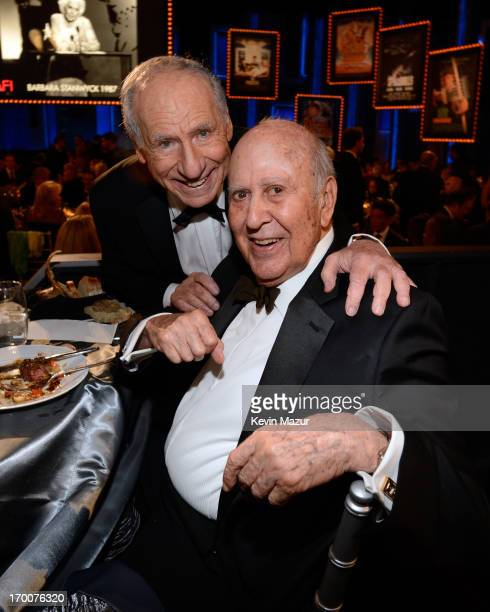 Honoree Mel Brooks and actor Carl Reiner attend AFI's 41st Life Achievement Award Tribute to Mel Brooks at Dolby Theatre on June 6 2013 in Hollywood...