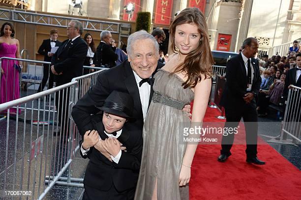 Honoree Mel Brooks and grandchildren Henry Michael Brooks and Samantha Brooks attend 41st AFI Life Achievement Award Honoring Mel Brooks at Dolby...