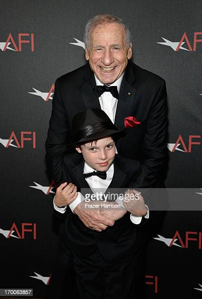 Honoree Mel Brooks and grandson Henry Michael Brooks attend the award presentation during the 41st AFI Life Achievement Award Honoring Mel Brooks at...