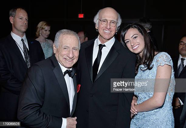 Honoree Mel Brooks Larry David and daughter Cazzie David attend the 41st AFI Life Achievement Award Honoring Mel Brooks after party at Dolby Theatre...