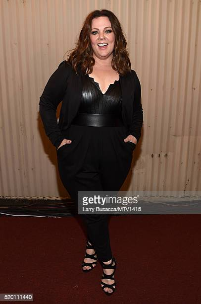 Honoree Melissa McCarthy attends the 2016 MTV Movie Awards at Warner Bros Studios on April 9 2016 in Burbank California MTV Movie Awards airs April...