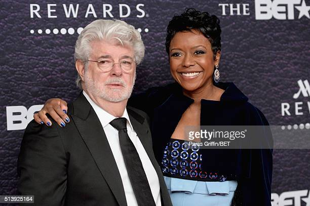 Honoree Mellody Hobson and filmmaker George Lucas attend the BET Honors 2016 at Warner Theatre on March 5, 2016 in Washington, DC.