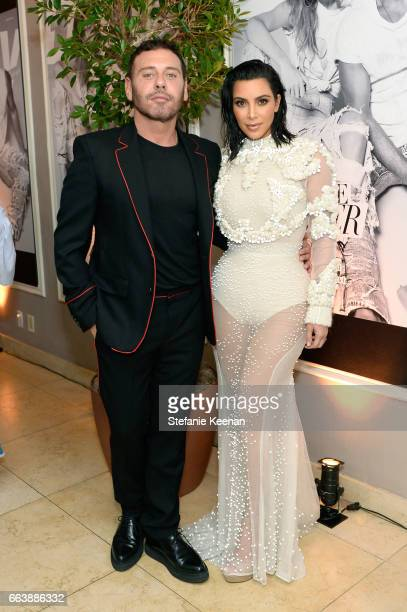 Honoree Mert Alas and Kim Kardashian West attend the Daily Front Row's 3rd Annual Fashion Los Angeles Awards at Sunset Tower Hotel on April 2 2017 in...
